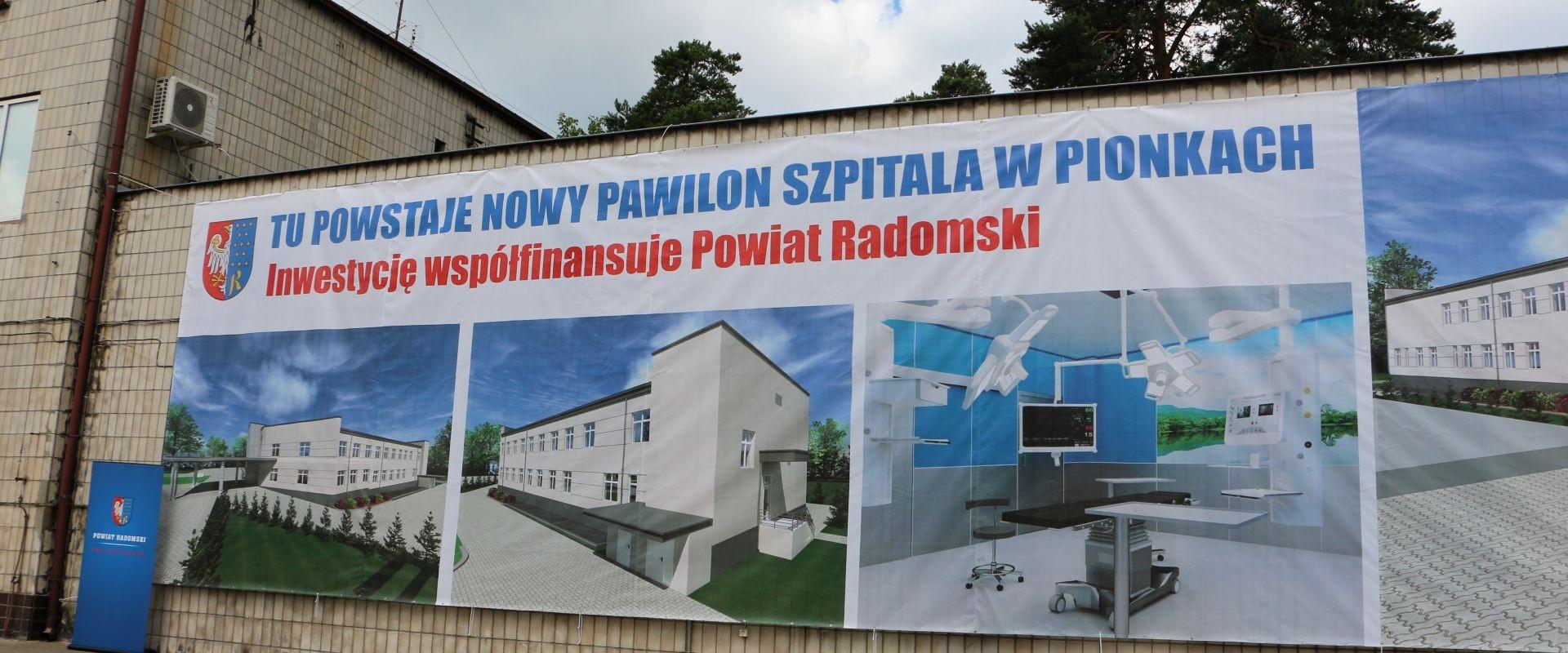 Przedstawienie planów budowy szpitala