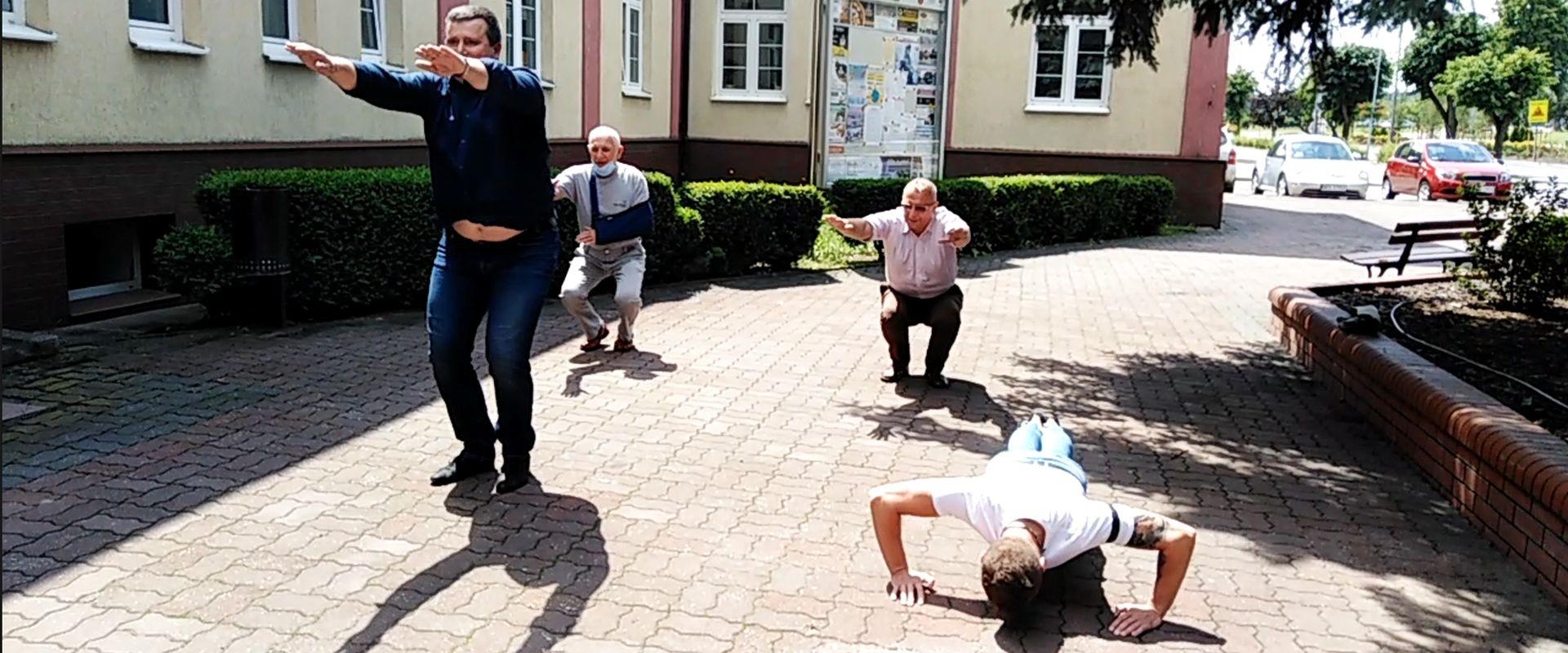 Ćwiczyli dla Krzysia Czupryna