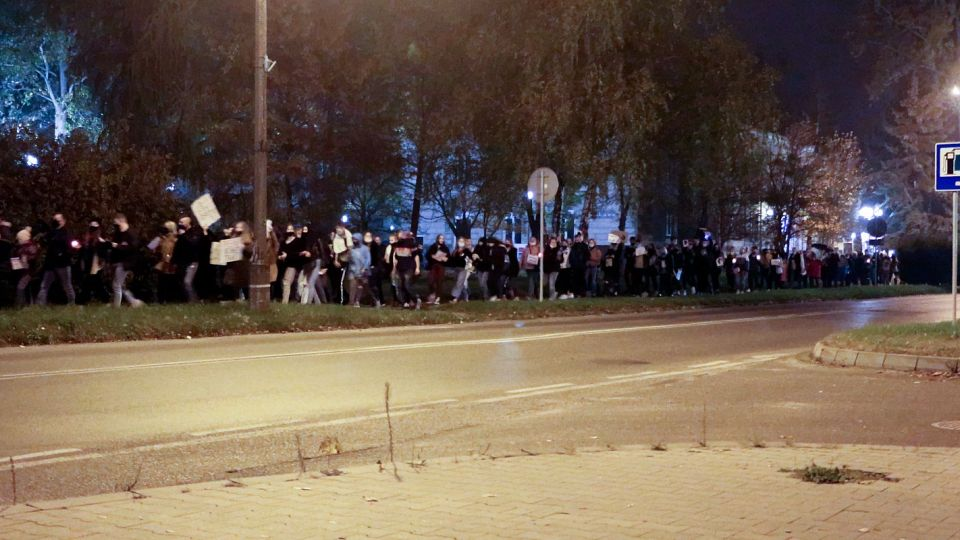 Strajk Kobiet na ulicach Pionek