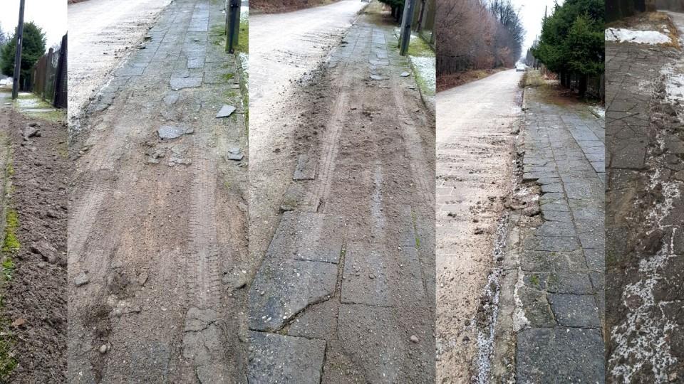 Chodnik oczyszczony… z płyt