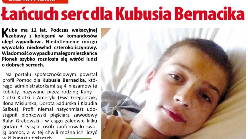 Łańcuch serc dla Kubusia Bernacika