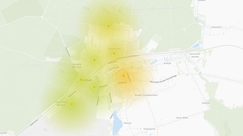 Jakość powietrza w Pionkach coraz gorsza