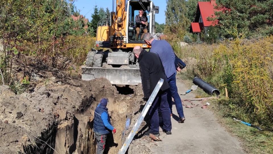 Sieć kanalizacyjna w ul. Świerkowej